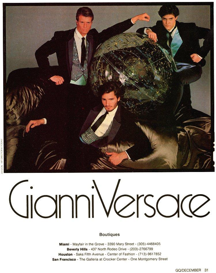 Mircea Oprea print Gianni Versace GQ photo Richard Avedon - Dec 1982