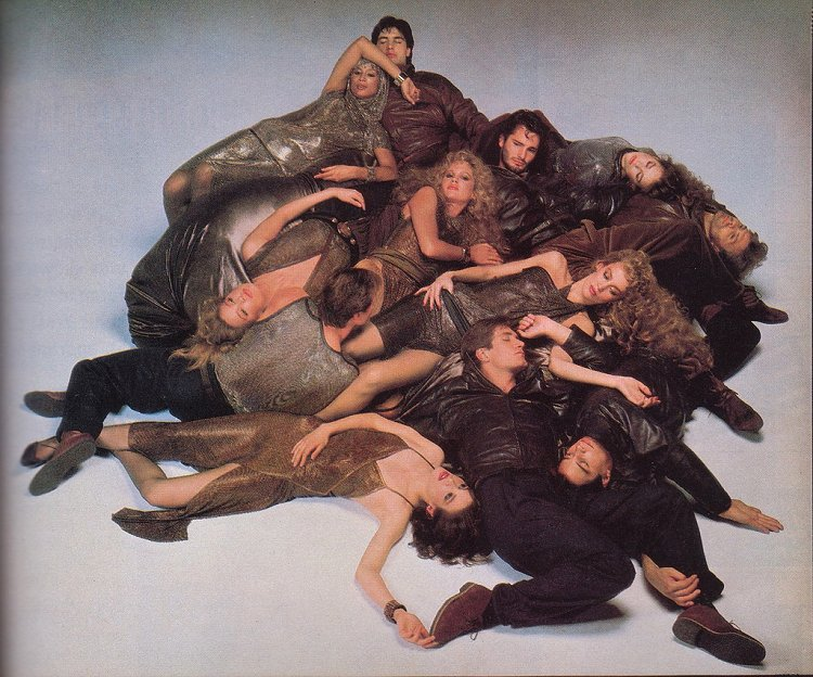 Mircea Oprea in Vogue for Gianni Versace spread by Richard Avedon - 1982