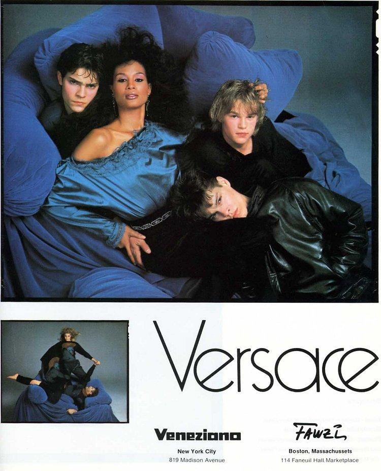 Mircea Oprea with Beverly Johnson print Gianni Versace Vogue Dec 1982